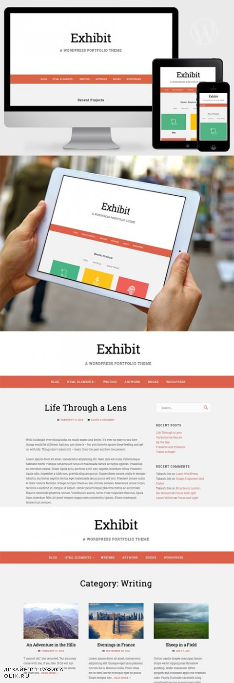 Exhibit v1.0 - WordPress Portfolio Theme - CrеаtivеМаrкеt 348846