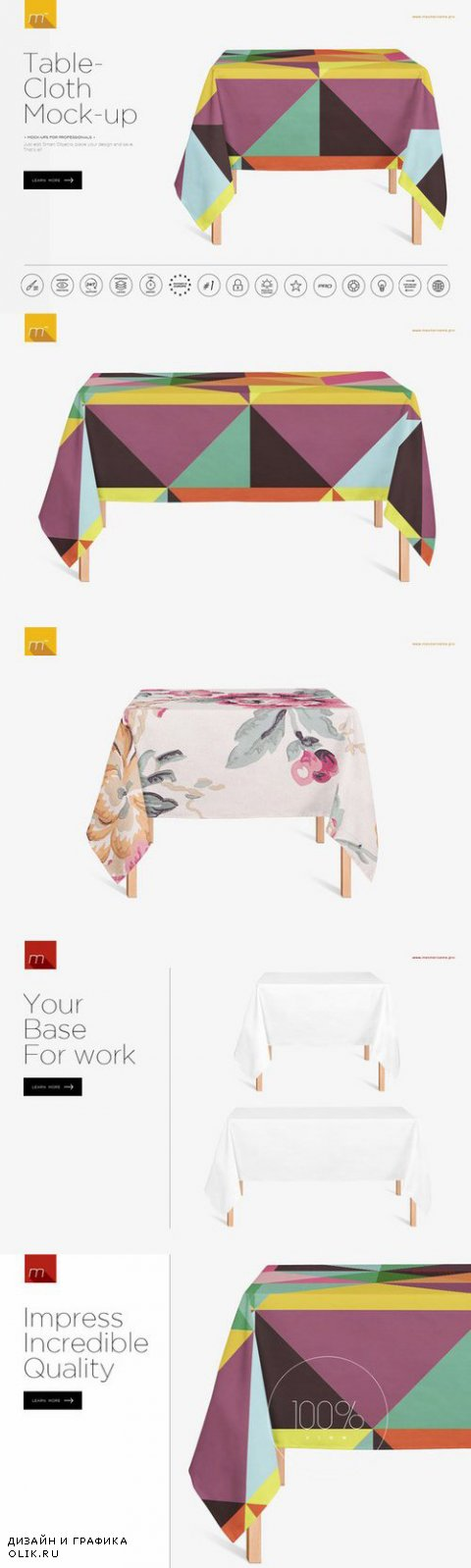 Tablecloth Mock-up - Creativemarket 458382