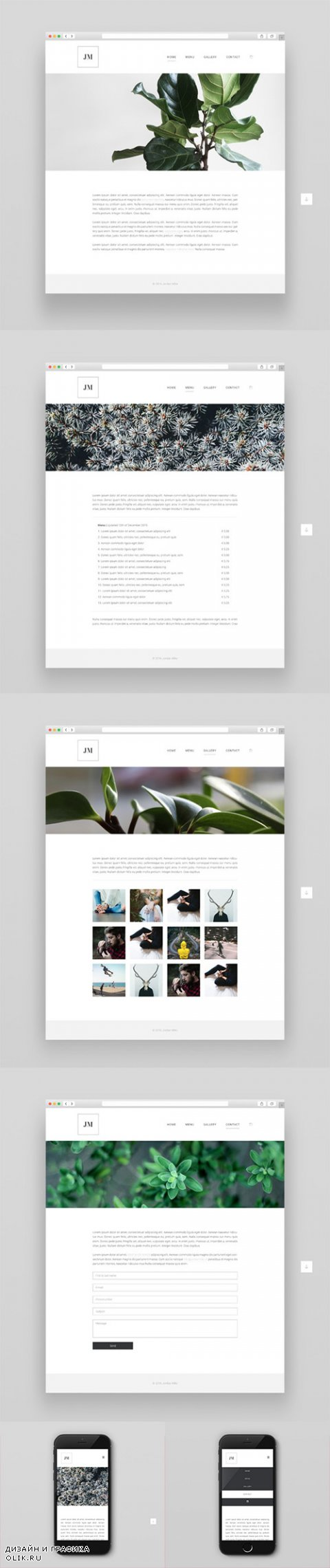 Complete Website Theme, HTML CSS PSD - CrеаtivеМаrкеt 531499