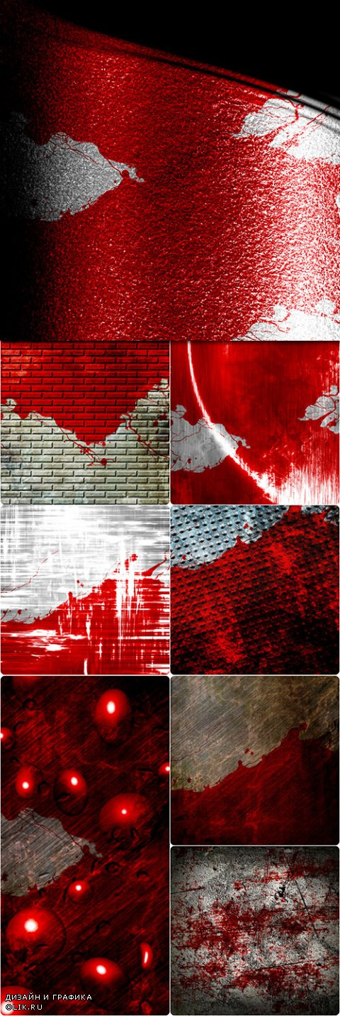 Backgrounds red splashes Grunge style