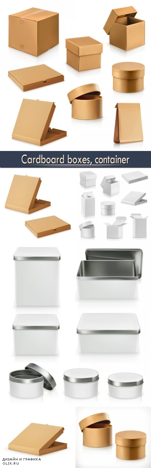 Cardboard boxes, container