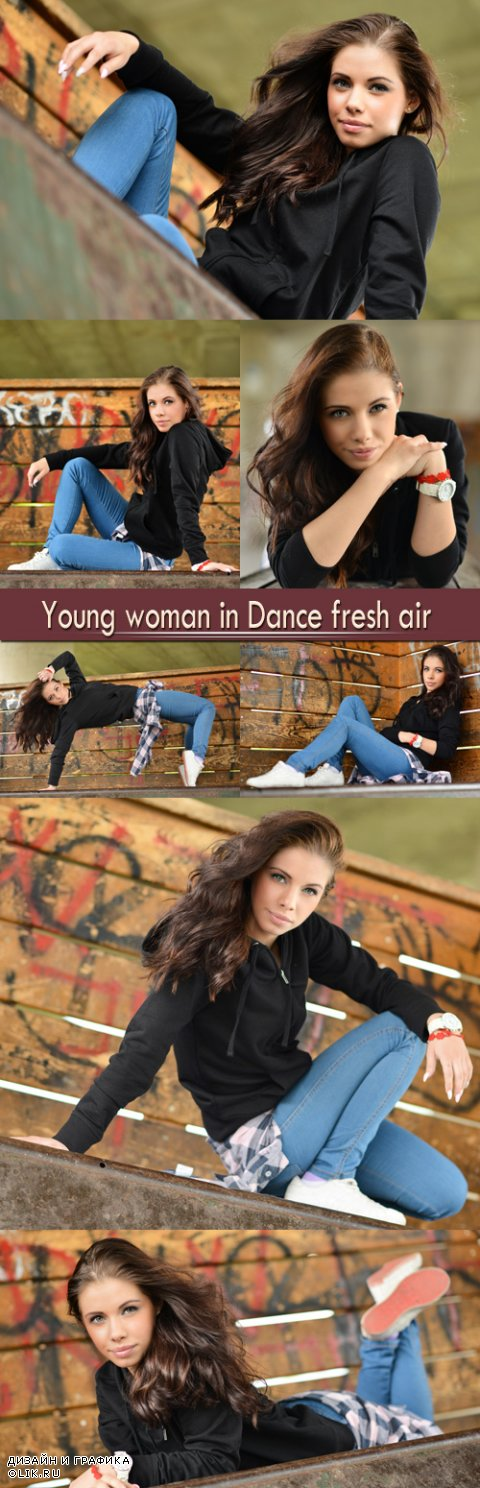 Young woman in Dance fresh air
