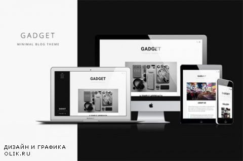 Gadget v1.2 - Minimal Blog Theme - CrеаtivеМаrкеt 252763