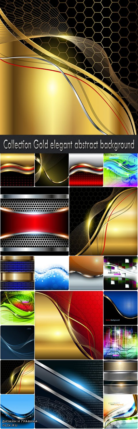Collection Gold elegant abstract background