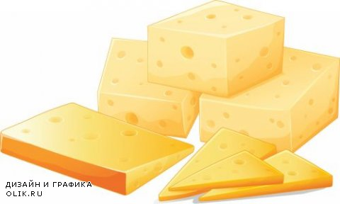 Cheese Design Elements - 15 Vector