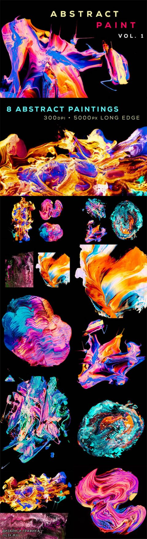 Abstract Paint, Vol. 1 - Creativemarket 468148
