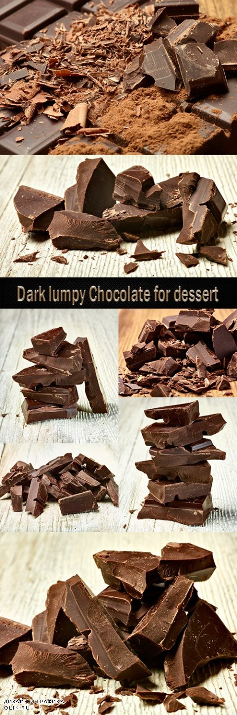 Dark lumpy Chocolate for dessert