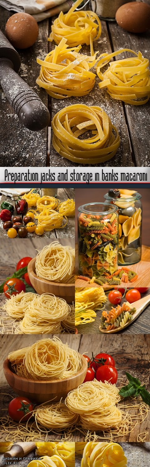 Preparation jacks and storage in banks macaroni