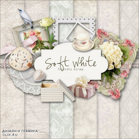 Scrap Kit - Soft & White Elements