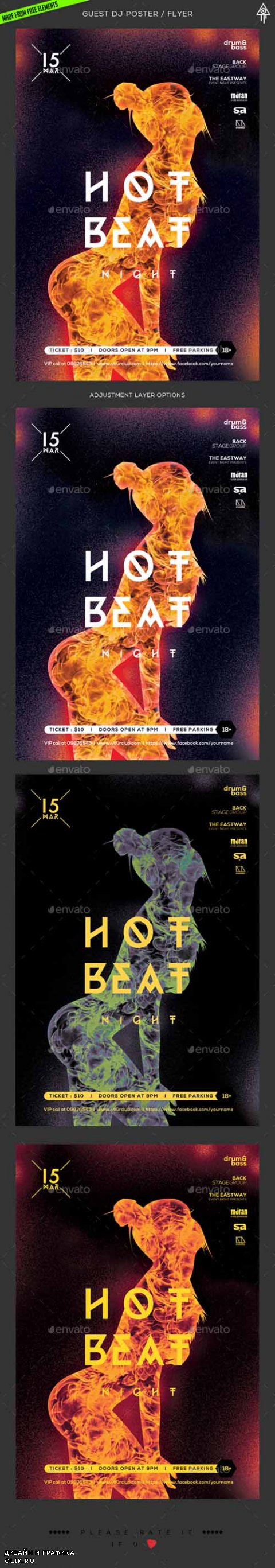 GraphicRiver Hot Beats Poster / Flyer 16347754