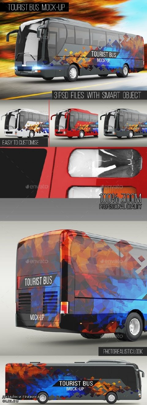 Tourist Bus Mock-Up - 16130721
