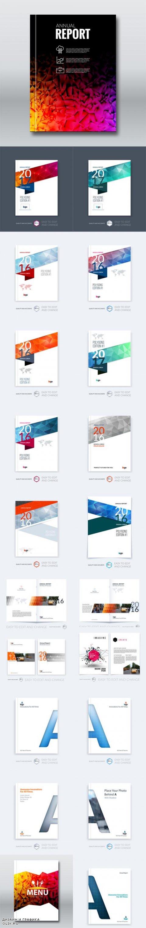 Vector Brochure Template Layout Cover Design Annual Report Magazine