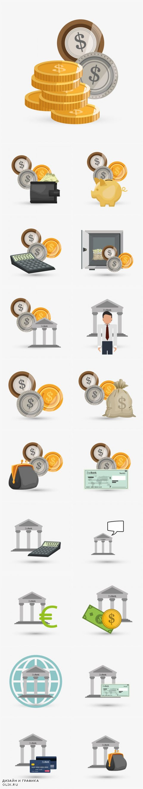 Vector Money Design Financial Item Icon 2