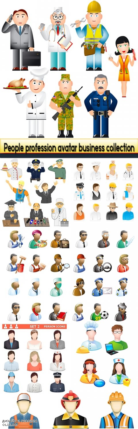 People profession avatar business collection