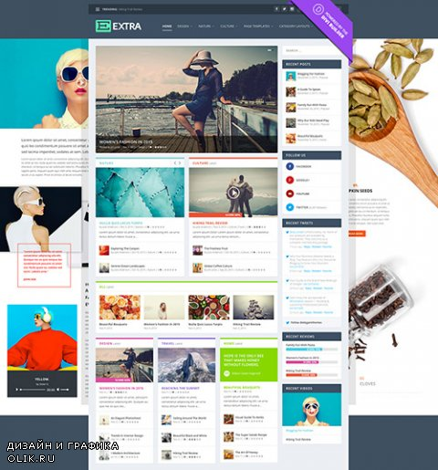 ElegantThemes - Extra v1.3.8 - WordPress Theme