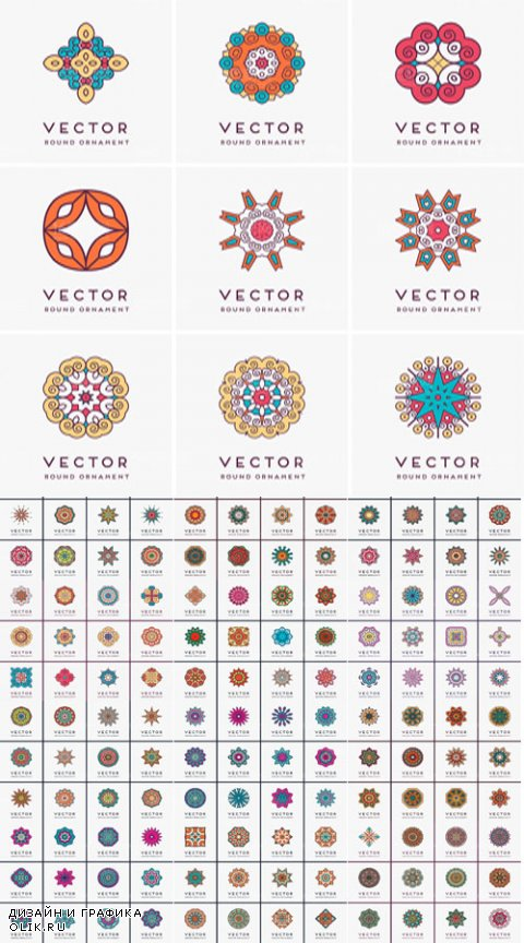 Тraditional pattern vector material
