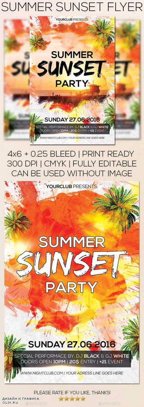 Summer Sunset Flyer 16834381