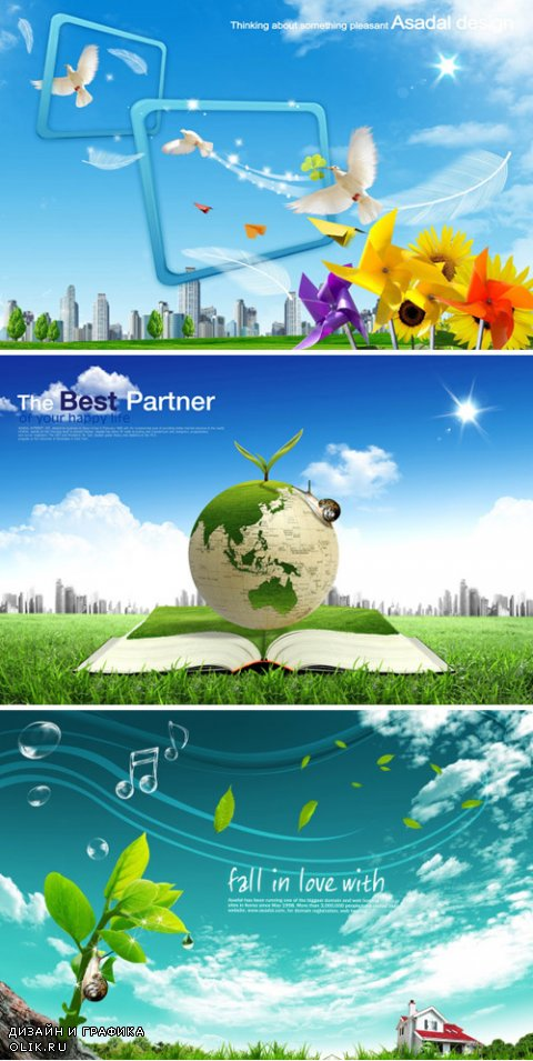 Nature, Green Planet - PSD Sources