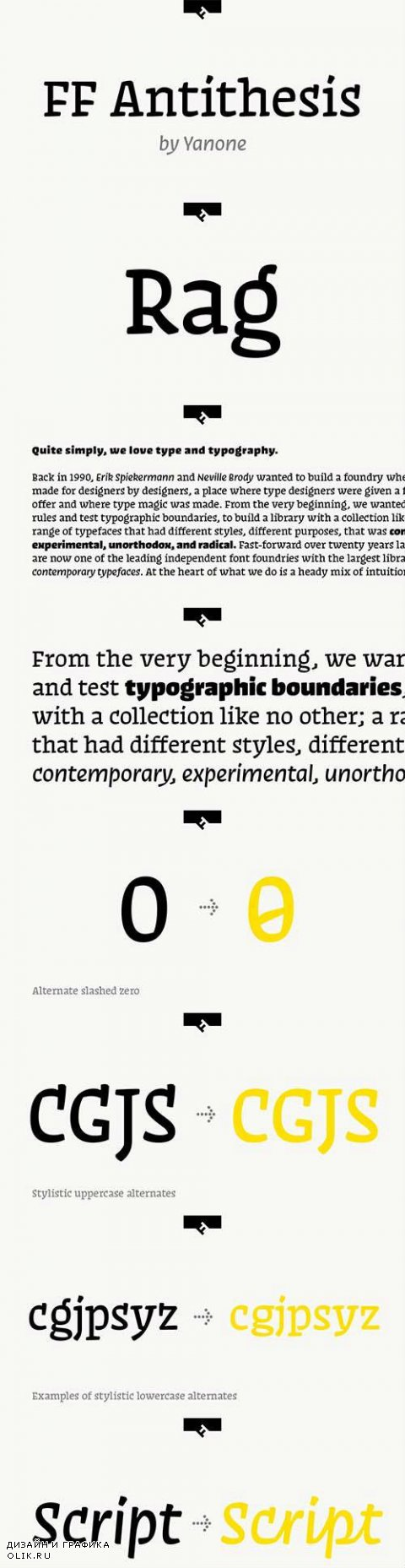 FF Antithesis Font Family