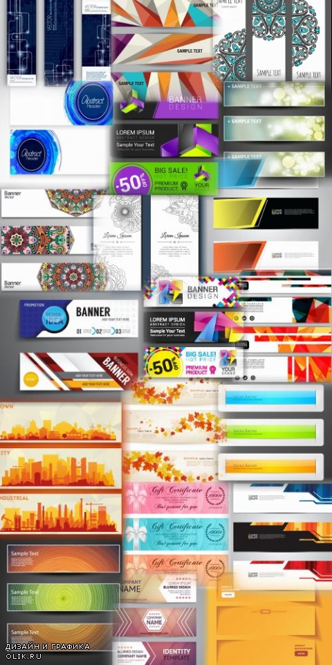 Abstract Banners Collection #23 - 20 Vectors