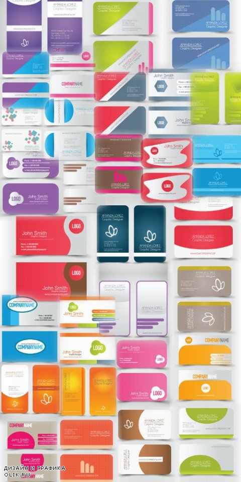 Business Card Design #57 - 30 Vector