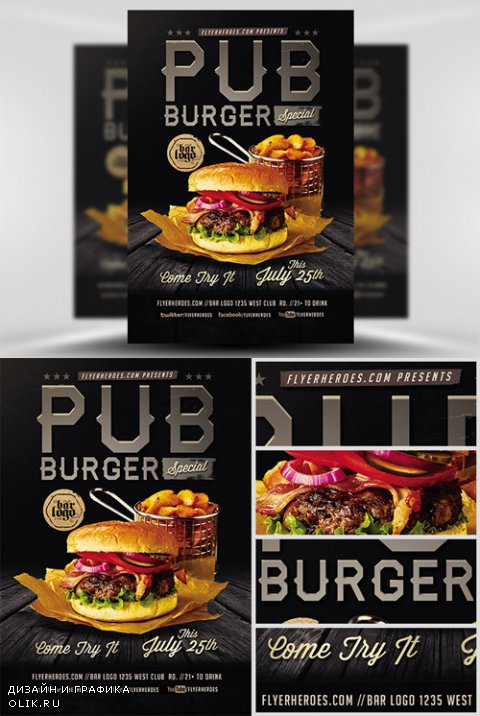 Flyer Template - Pub Burger