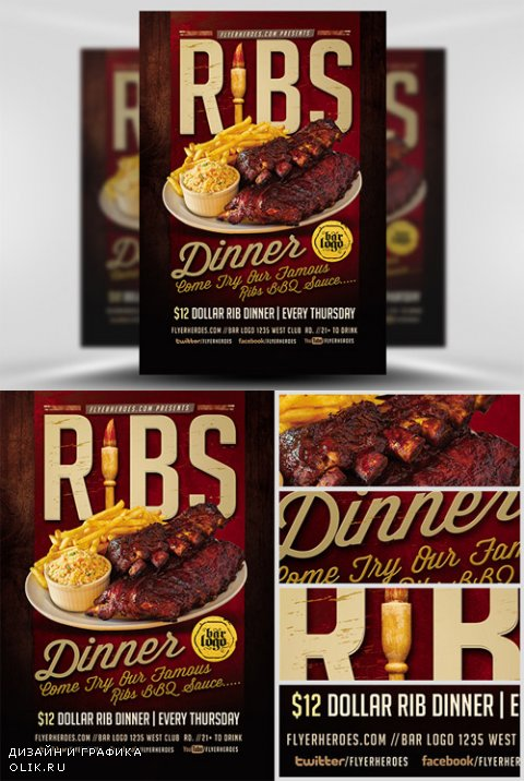 Flyer Template - Ribs Dinner