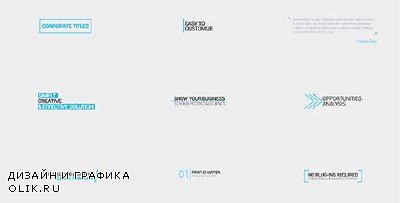 Minimal Corporate Titles - Project for After Effects (Videohive)