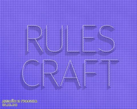 Rules Craft Text Effect