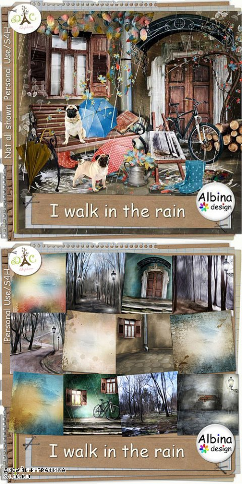 Scrap Kit - I Walk in the Rain