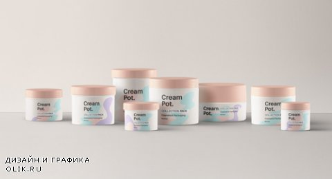 Cream Pot Cosmetic Mockup Pack