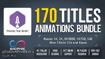 170 Titles Animations Bundle - Project for After Effects (Videohive)