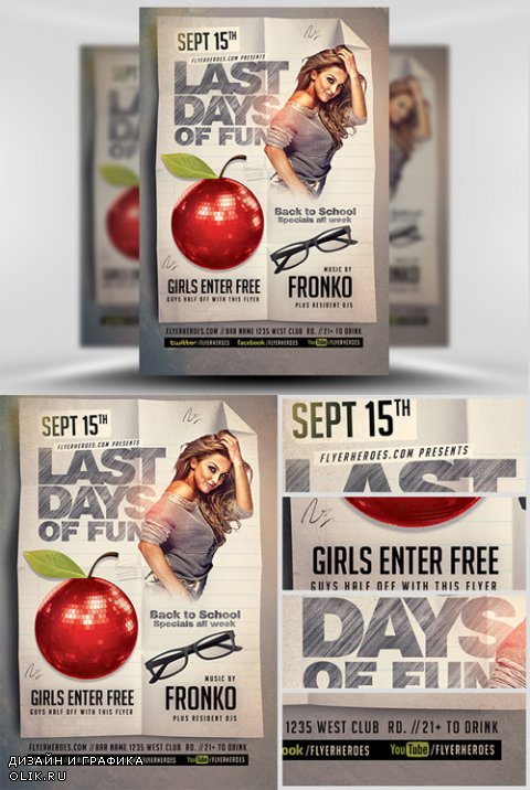Flyer Template - Last Back To School