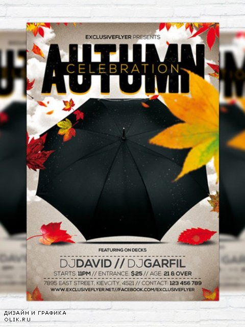 Flyer Template - Autumn Celebration + Facebook Cover