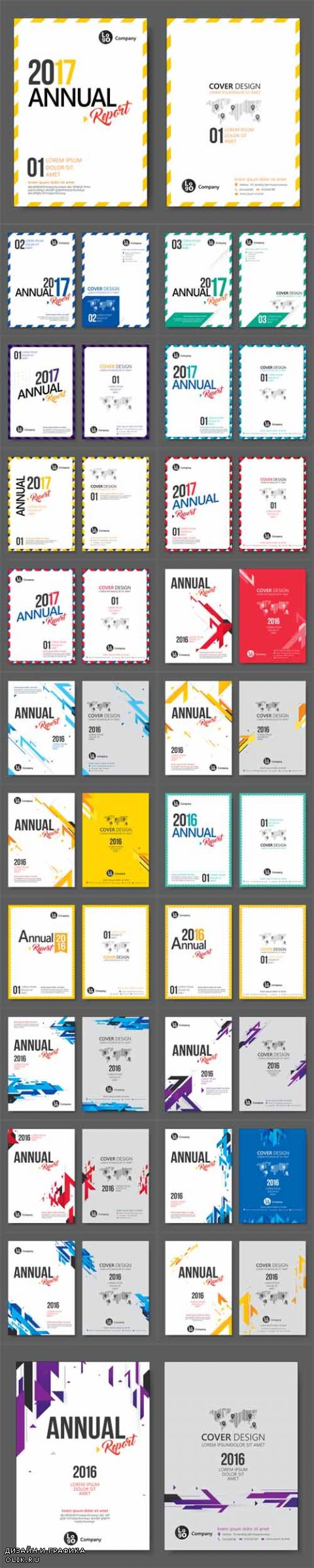Vector Flyer, Leafle, Annual Report Templates Flat Design in A4 Size
