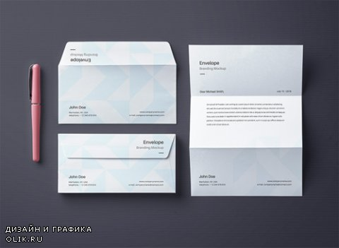 Envelope Letter Mockup Vol 4