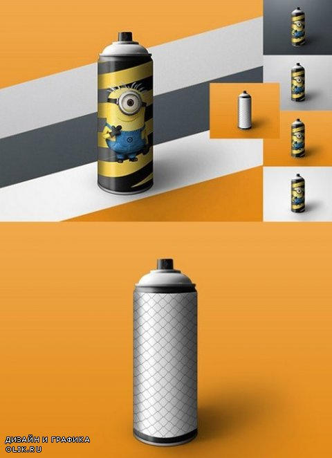 Spray Can Mock-up tin of paint - 881127