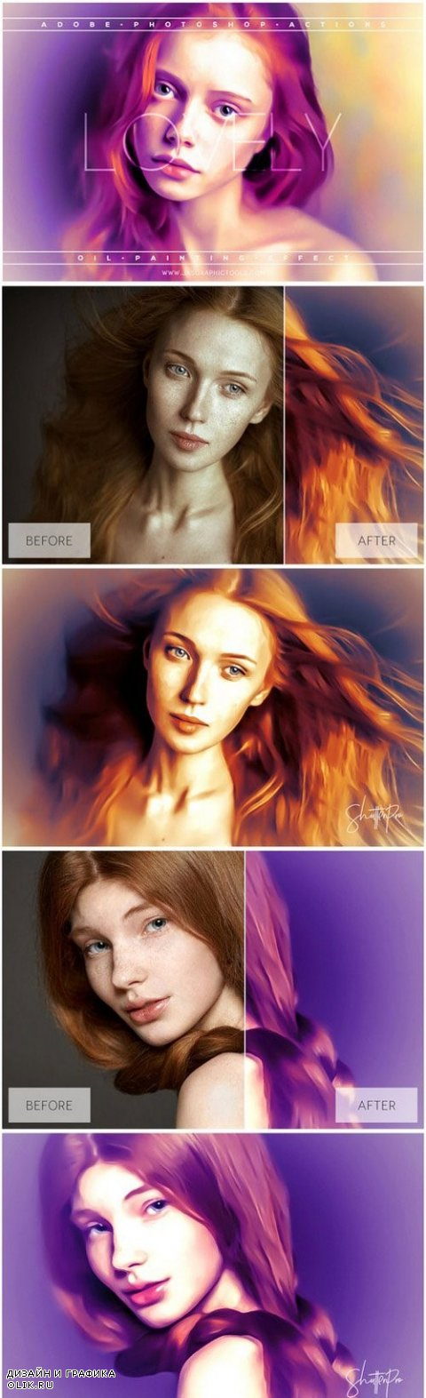 Lovely Oil Painting Effect Actions - 884892