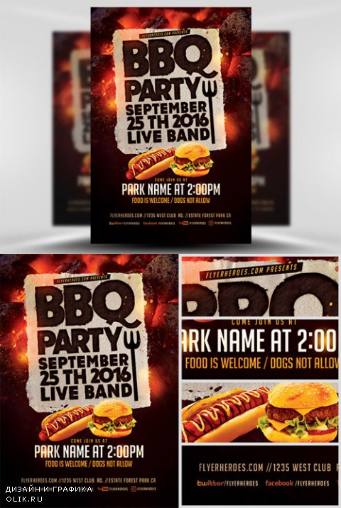 Flyer Template - BBQ Party V2