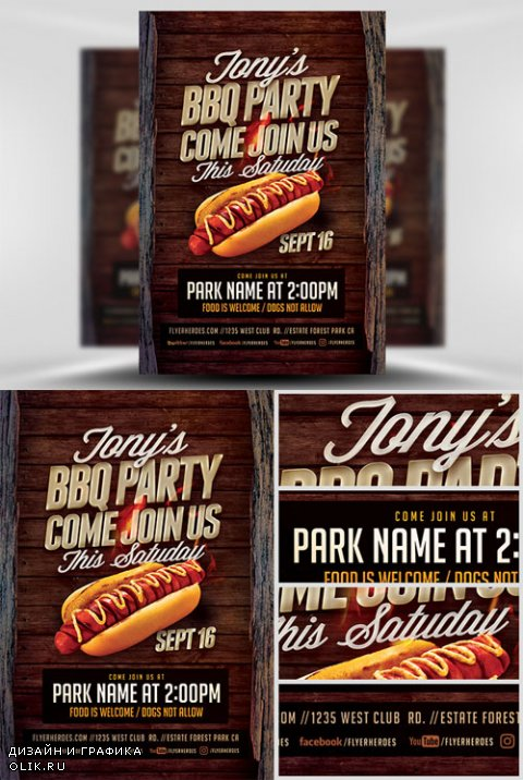 Flyer Template - Tonys BBQ Party