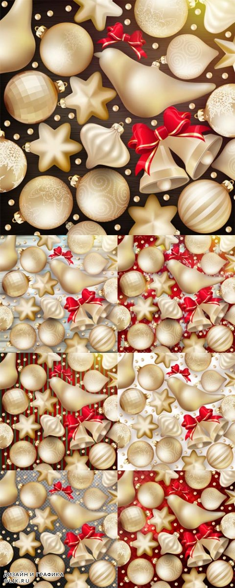 Vector Christmas Decoration Backgrounds