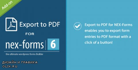 CodeCanyon - Export to PDF for NEX-Forms v1.0 - 11220942