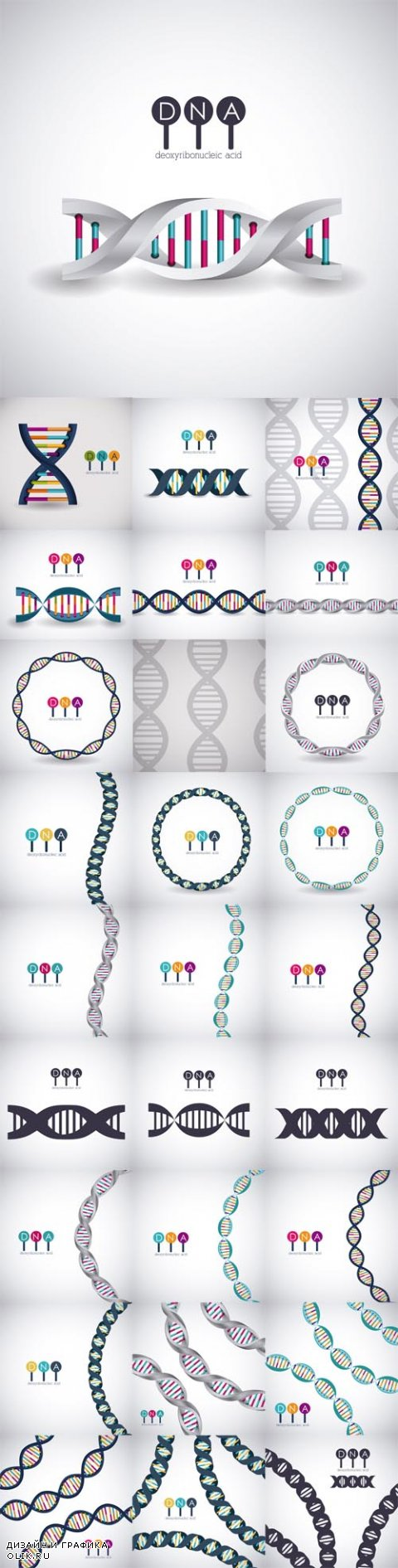 Vector Dna structure chromosome icon. Science molecule genetic and biology theme