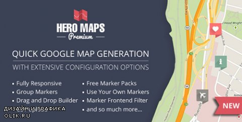CodeCanyon - Hero Maps Premium v2.1.5 - Responsive Google Maps Plugin - 12577151