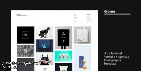 t - KROME v1.0 - Pure & Minimal Creative Portfolio / Agency / Photography Template - 16686195