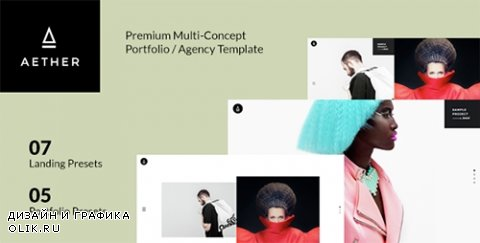 t - AETHER v1.0 - Minimal & Enjoyable Multi-Concept Portfolio / Agency Template - 15074665
