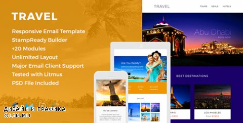 t - Travel v1.0 - Responsive Email Template - 16045902