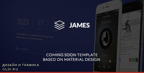 t - James v1.0 - Material Design Coming Soon Template - 10540724