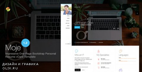 t - Moje. v1.2 - Responsive Bootstrap Personal Resume vCard HTML/CSS Theme - 7800423