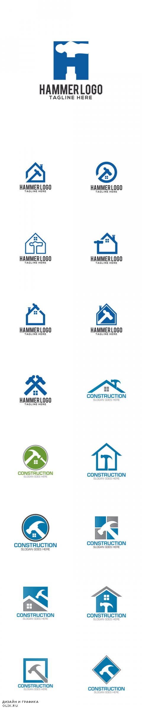 Vector Construction Creative Concept Logo Design